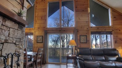 Photo for Just a Family Lodge 5/5 AMAZING Views. 2 Hot tubs. Pool Table. WiFi. Pool Access
