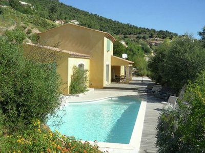 Photo for Spacious villas with private swimming pool at the beautiful Côte d'Azur
