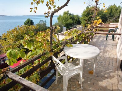 Photo for Comfortable and spacious apartment with balcony and sea view Sveti Petar (Biograd)