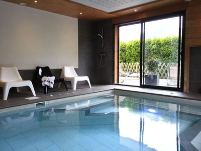 Photo for Apartment in gite with indoor heated pool and relaxation area