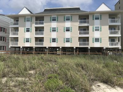 Beachfront View-End Unit to the left on the second floor