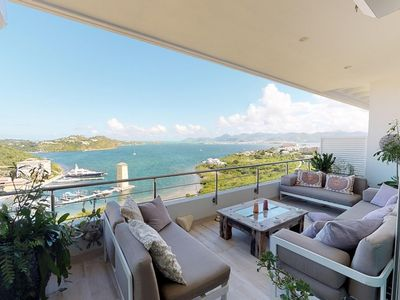 Condo Moonrise  -  Ocean View - Located in  Stunning Cupecoy with House Cleaning Included