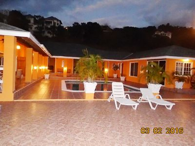 Fantastic, spacious villa with a large pool and sea views in a very safe area.