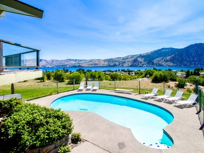Photo for Group getaway w/ private pool, hot tub, fireplaces, & fantastic mtn/lake views!