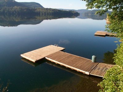 Beautiful Lake Front Home on Acre with Hot Tub & Private Dock