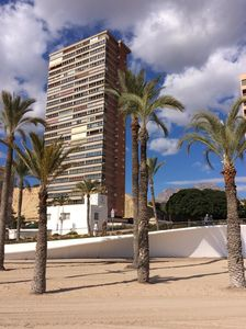 Photo for Apartment facing the sea. In the center of the Poniente Beach. WIRELESS. Swimming pool