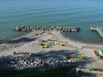 Photo for Lakefront Condo 2 BR 2 BA Private beach access BOOKING NOW FOR SUMMER