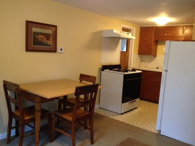 Kitchen has what you need...microwave, pans, dishes, silverware, & coffee maker.