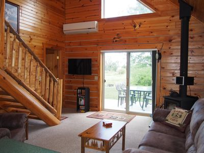 Photo for Charming Log Cabin with Wood Burning Fireplace – 1 mile from Downtown Hayward