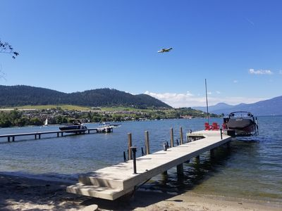 Photo for Lakefront House on Okanagan: Sandy Beach,  Dock, 2xPatios, 4 Bed/3 Bath