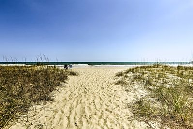 You'll be steps from the beach during your stay.