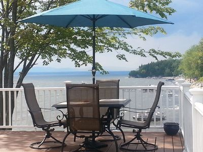New home with gorgeous views and sandy beach!! You won't be disappointed.