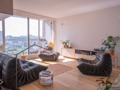 Photo for Paris with a breathtaking view–Bright, luxury apartment in hippest district