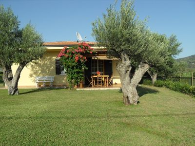 Photo for Apartment in independent villa with swimming pool and garden, near the sea