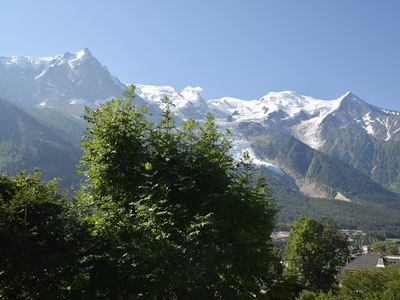 Photo for Flat in Chamonix Les Moussoux In Front of Mont Blanc Private Garden Parking