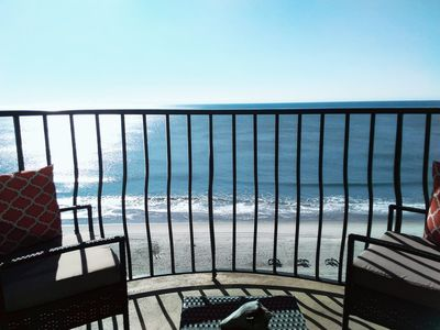 Begin your day relaxing here (1 of 2 oceanfront balconies)  . . .