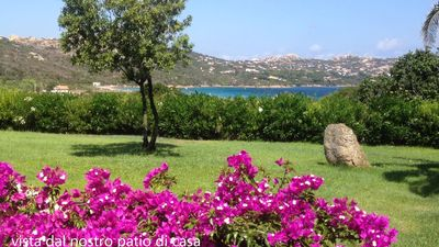 Photo for Accommodation with sea view terrace overlooking the enchanting Porto Raphael bay