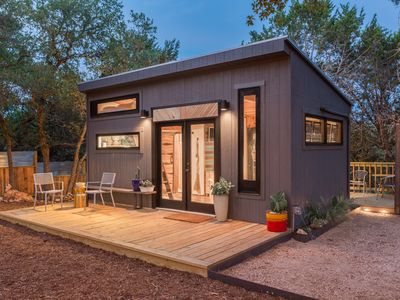 Photo for Sundown: A Designer's Gorgeous Tiny House  *hot tub*