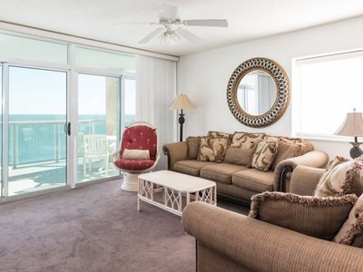 Photo for Spacious condo oceanfront with 4 bedrooms for your relaxation! | Blue Water Keyes - 1107