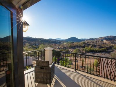Photo for Private Home With Sweeping Views! Extra-Comfy Bed, Satellite TV, Fully Stocked!
