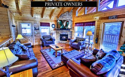 Photo for Yeti's Retreat - Private owners/perfect location/big deck/game room/hot tub