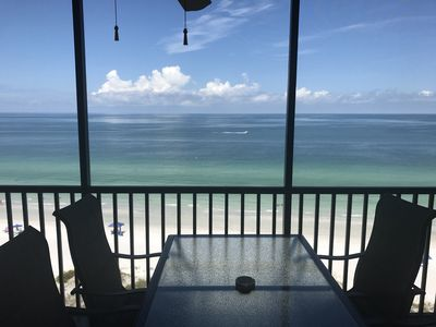 Photo for 2 bedroom, 2 bath condo with view of the Gulf.