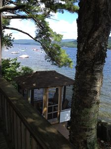 """Photo for Lovely Lakefront cottage on crystal clear Newfound Lake. Visit """"Overbrook"""""""