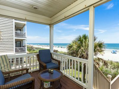 "Photo for ""Bella Alba"" Perfect Surfside Beach Oceanfront Location. Parking for 4 Cars"