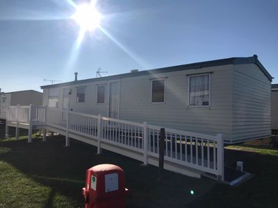 Photo for Dog friendly caravan sleeps 8 in St Osyth, Clacton, Esssex ref 28024