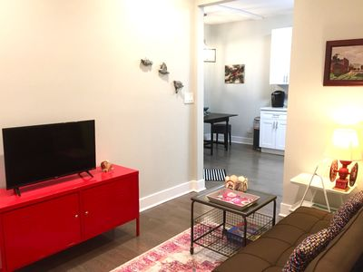 Photo for Cute & Cozy Coach House! Chicago Lincoln Sq 2Bdrm Close to Brown Line AC Quiet!