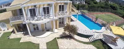 Photo for Beachfront, luxury family-friendly Villa with private tennis, pool, jacuzzi...
