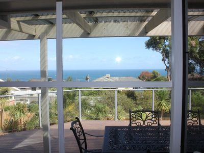 Beautiful  bay view from the deck