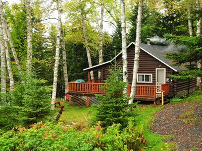 Photo for Experience Log Cabin Living on the Shores of Rangeley Lake