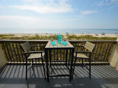 Photo for BEACHFRONT 2BR CONDO W/POOL*PRIVATE USE OF 3 BIKES & 2 KAYAKS