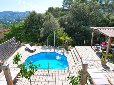 Photo for Villa with pool near Cannes and Mandelieu, 8 pers, 15 min from the beach