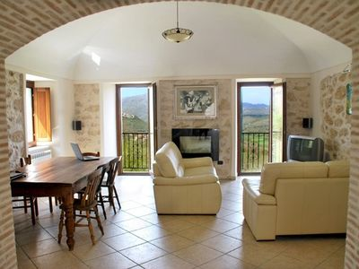 Photo for Country house with oustanding views of the Val di Comino