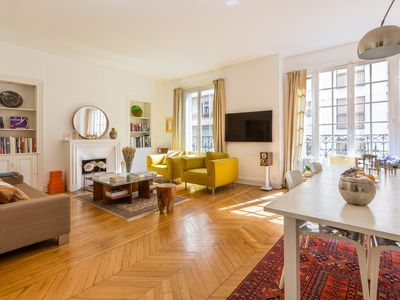 Photo for Pristine & spacious 1BR apartment in the 16th, moments from the Metro, by Veeve