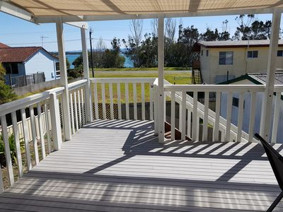 Photo for Elevated house, water views and sea breezes.