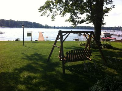 Photo for Family Lakefront Getaway! Includes Boats, Playset, Sandbox, Toys And Fishing.
