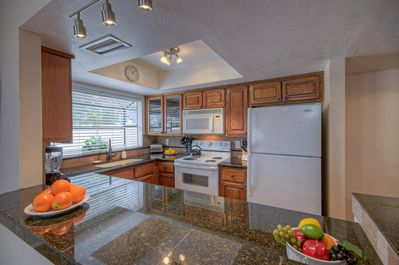 Kitchen is completely stocked so guests can easily prepare their favorite beverages and meals