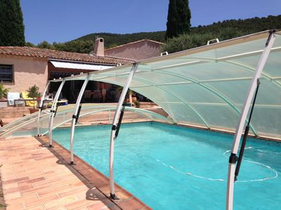 Photo for Bastide Provencale, large indoor pool. Very calm and relaxing site.