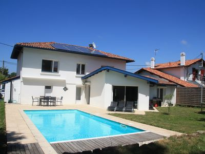 Photo for Large villa in a quiet, heated swimming pool, near beaches