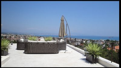 Photo for Antibes Viila with pool, stunning sea and mountain views!
