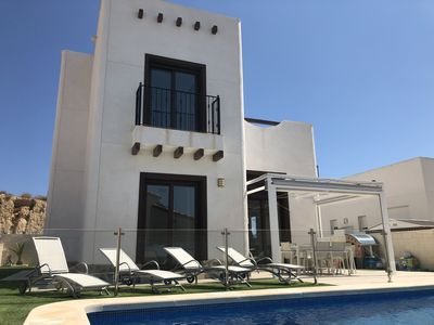 Photo for Stunning 4 bed modern villa with large private pool