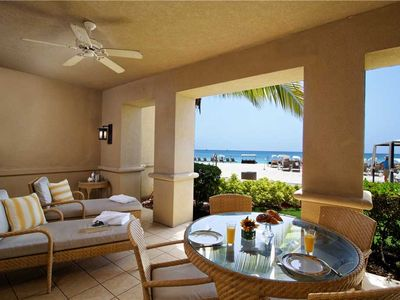 Photo for 3BR Ground Floor Ocean Front, Private Residence 108 at The Ritz-Carlton, Grand Cayman