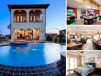 Photo for RVH_082M | Luxury Villa with Infinity Pool, Water Fountains, Summer Kitchen & Gas Fire Pit
