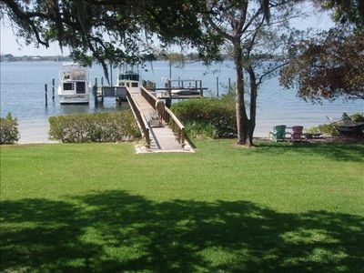 Dock & beach is 250 ft  from back of Cottage/boat slip avail. for fee