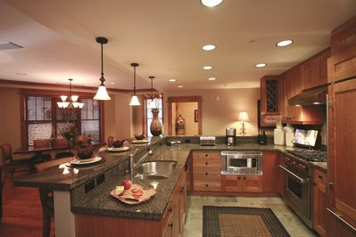 Kitchen and open living space
