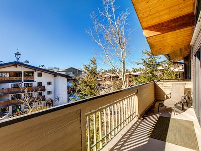 Photo for NEW LISTING! Ski-in/ski-out condo w/ mountain views, a gas fireplace, & more