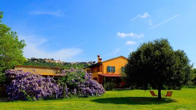La Casa Toscana with our beautiful wisteria in blooming.